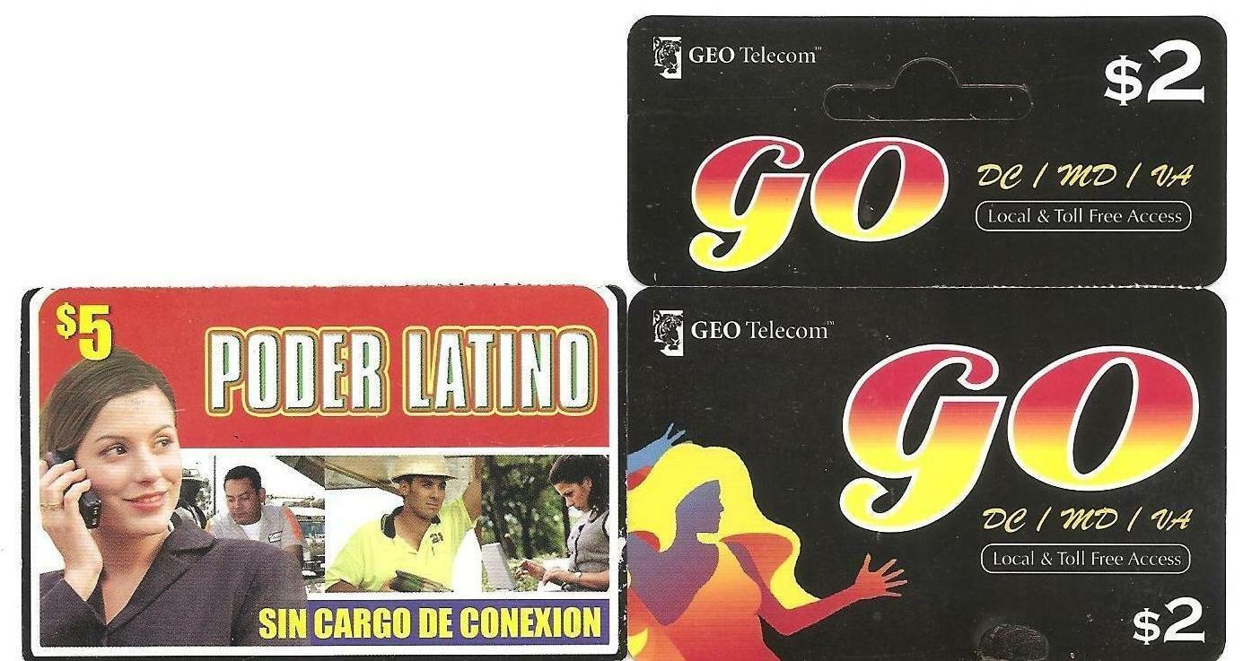 TELEPHONE CARD - USA - PODER LATINO / GO prepaid USED NO VALUE