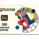 CZECH PHONECARD - SPT Telecom - Clown 100 Units  - USED / NO AIRTIME