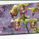 SINGAPORE Telephone card $10 SingTel ORCHIDS USED NO VALUE