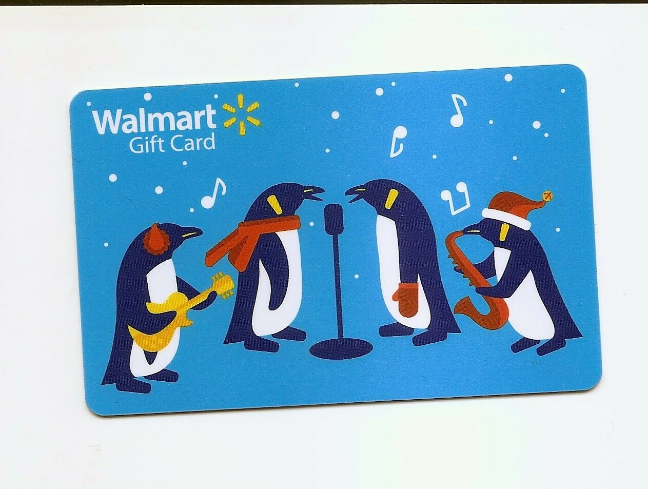 USED - WALMART Gift Card Holiday Penguins USED / NO VALUE