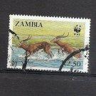 ZAMBIA - WWF Black Lechwe - endangered animals  Scott 429  SG  539