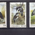 ZAMBIA - short set Birds definitives 1987-88 Fine used