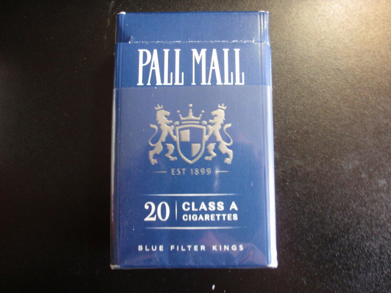 EMPTY CIGARETTE BOX EMPTY PACK USA PALL MALL - Virginia tax stamp label EMPTY