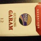 EMPTY CIGARETTE BOX EMPTY PACK Indonesia GUDANG GARAM NUSANTARA 12 pack RED