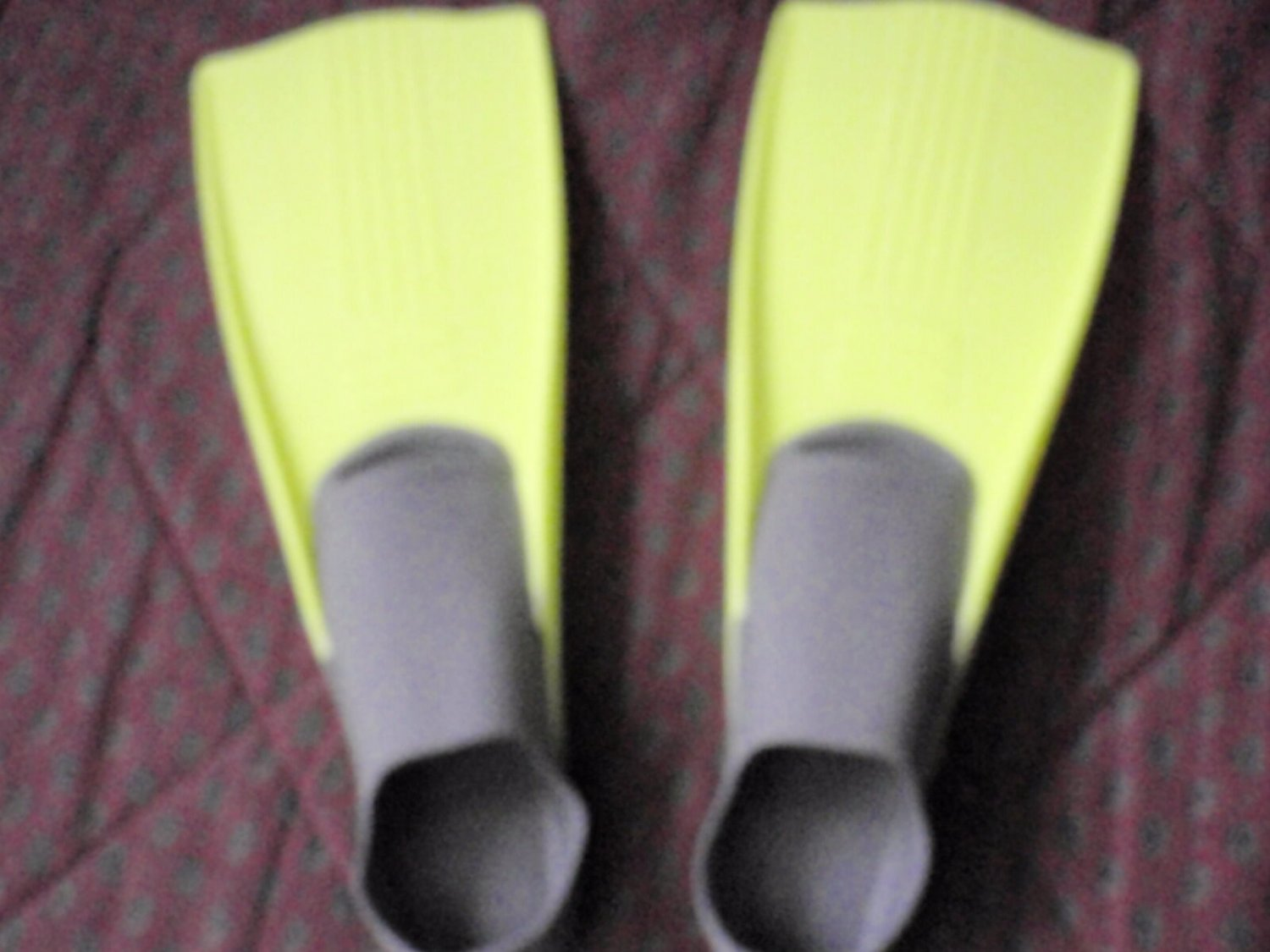 Swim Fins Size 3-5 Or 36-38 Florescent Yellow Swimming