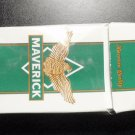 EMPTY CIGARETTE BOX PACK - EMPTY - USA - MAVERICK MENTHOL 100s - Virginia tax label