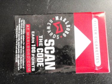 CIGARETTE BOX EMPTY PACK USA MARLBORO RED - REWARDS Wrapper
