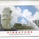 POSTCARD - SINGAPORE Merlion Fountain 2007 - Used