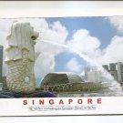 POSTCARD - SINGAPORE Merlion Fountain 2007 - Used