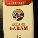 CIGARETTE BOX EMPTY PACK Indonesia GUDANG GARAM NUSANTARA 12 pack RED