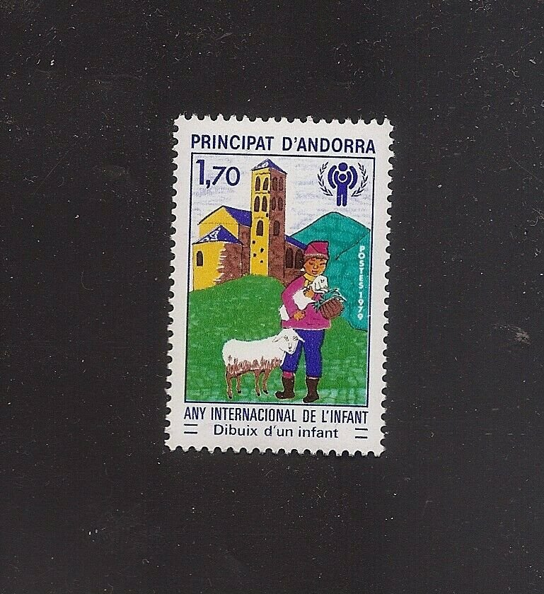 ANDORRA French - Intl Year of the Child IYC - 1979 - Yvert 279 Scott 272