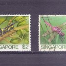 SINGAPORE INSECTS 1985 Scott 462-63 SG 500-01