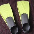 Swim Fins Size XS 3-5 Or 36-38 Florescent Yellow Swimming