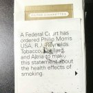 EMPTY CIGARETTE BOX -- EMPTY PACK -- USA MARLBORO Gold Pack - Court-ordered statement