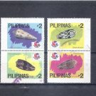 PHILIPPINES PhilaKorea 94 1994  Shells Scott 2313 a-d - two pairs