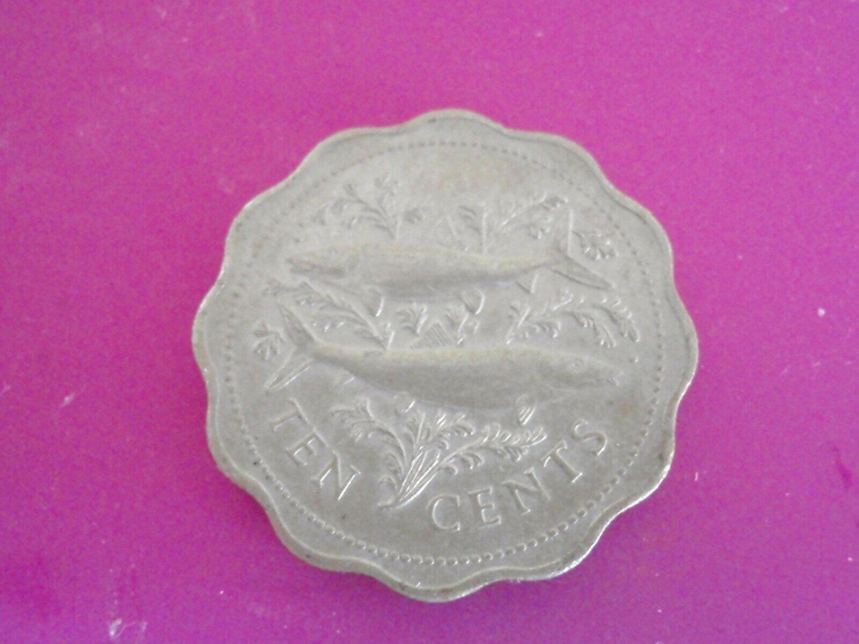 Coin BAHAMAS 10 Cents 1975 KM 61  F