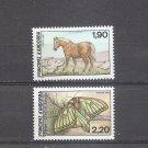ANDORRA FRANCE Nature Set of 2  1987  Scott 355-56 Yvert 361-62 MNH