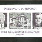 MONACO Philatelic Bureau Souvenir Sheet Yvert Bloc 39A IMPERF 1987