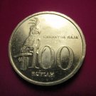 INDONESIA 100 Rupiah Coin Bird - Cockatoo  1999 KM 61 VF