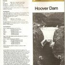 HOOVER BOULDER DAM Brochure - Nevada USA - US Dept of Interior, 1984
