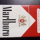 CIGARETTE BOX - EMPTY PACK - USA MARLBORO RED - no tax label - EMPTY