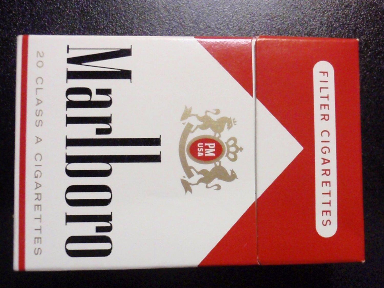 EMPTY CIGARETTE BOX PACK - EMPTY - MARLBORO Red Philip Morris - pristine - EMPTY