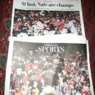 Washington Post Newspaper Front Page NATS ARE CHAMPS Nationals World Series 2019