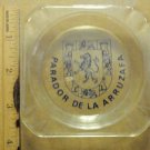 Vintage Glass Ashtray HOTEL PARADOR DE LA ARRUZAFA Spain 1960s