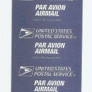 UNITED STATES USA pane sheet of 5 Air Mail etiquettes MINT NH