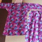 MALAYSIA BAJU KURUNG GIRLS DRESS - Top + Skirt - Purple - Size 10-11 Waist 20