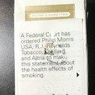 CIGARETTE BOX -- EMPTY PACK -- USA MARLBORO Gold Pack - Court-ordered statement