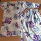 MALAYSIA BAJU KURUNG GIRLS DRESS Top + Skirt - Blue  / Purple Size 6-7 Waist 17