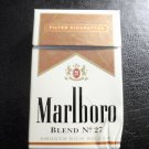 EMPTY CIGARETTE BOX PACK - EMPTY - MARLBORO BLEND No. 27