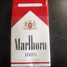 CIGARETTE BOX PACK - EMPTY - USA MARLBORO 100s Virginia tax stamp label -- EMPTY