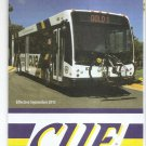 FAIRFAX VIRGINIA USA - CUE Bus Routes Map and Guide - Sept 2015