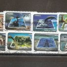 FRANCE - Set of 12 Protection of Water 2010  Scott 3782-93  Yvert AA 403-414
