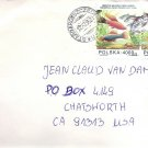 Cover from Seychelles and Poland addressed to Actor JEAN CLAUDE VAN DAMME 1995