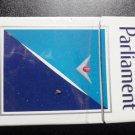 EMPTY CIGARETTE BOX PACK USA - EMPTY - PARLIAMENT - w/ Court warning label