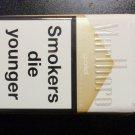 EMPTY CIGARETTE BOX EMPTY PACK MARLBORO GOLD w/ Warning labels - EMPTY