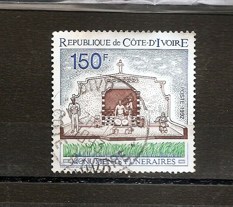 IVORY COAST COTE D'IVOIRE Funeral monuments Scott 928 1992 Postally Used