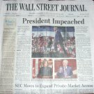 PRESIDENT (TRUMP) IMPEACHED - Wall Street Journal Front section Dec 19, 2019