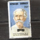 GABON 20th Anniversary death of Albert Schweitzer Scott C279  - Postally used