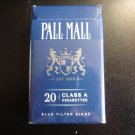 CIGARETTE BOX - EMPTY PACK - USA PALL MALL - Virginia tax stamp label - EMPTY
