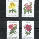 AUSTRALIA - Roses set of 4 - 1982 - Scott 826-29 MNH