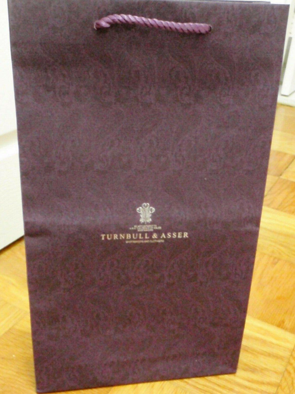 TURNBULL & ASSER Shirtmaker London Gift Shopping Bag - Size 20 x 11 1/2 x 3