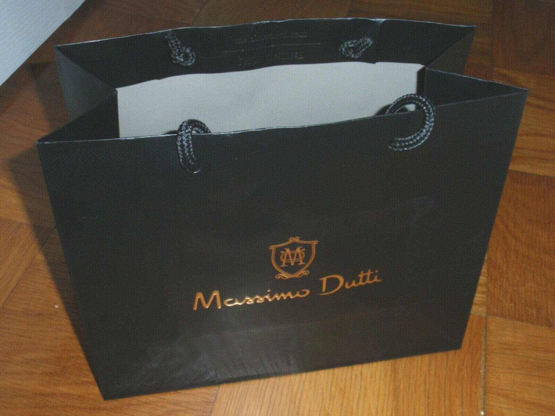 MASSIMO DUTTI Gift Shopping Bag Sack - Size 9 1/2 x 11 3/4 x 5