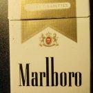 EMPTY Cigarette Box collectible MARLBORO Gold Virginia tax label stamp - EMPTY