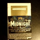 EMPTY Cigarette Collectible MARLBORO GOLD CHASING MIDNIGHT Virginia tax stamp