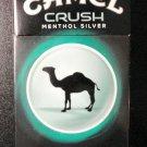EMPTY Cigarette Box Collectible - CAMEL CRUSH Menthol Silver - EMPTY