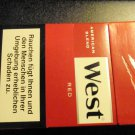 EMPTY Cigarette Box Collectible GERMANY - WEST Imperial Tobacco - EMPTY